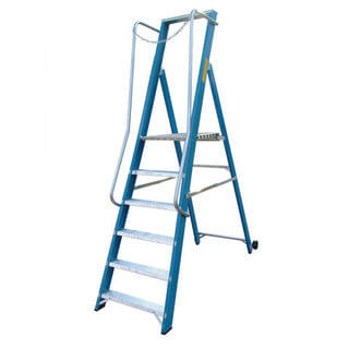 Step Ladder - GRP Fibreglass (Extra Wide Platform)